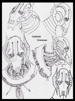 General grievous doodles by PurpleRAGE9205