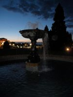 Fountain by Night by Bambi-Claire