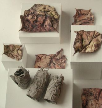 paper clay sculpture by sa33le