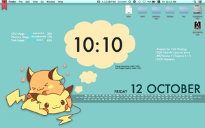 Mac Desktop - Pikachu version 1 by Sana--K