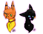 :SP: Aria and Black cat by Poppyshadow