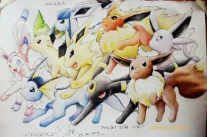 Eevee evolution by PhamTanVietkingdra