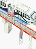Monorail Emergency Exit Design by guelpacq