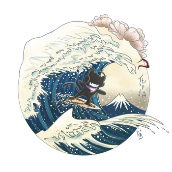Monstercat in The Great Wave off Kanagawa by KarmaMoonshadow