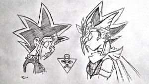 Yugi and Atem by Kimster251