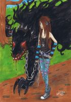 A Walk with The Dog by LittleMissAlexius