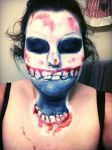 Dead Hand makeup by leafyloo