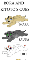 Bora and Kitoto's Cubs by AnimeFan4Eternity23