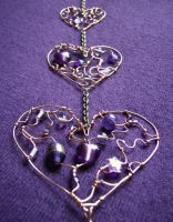 Trinity - a purple suncatcher by SneddoniaDesigns