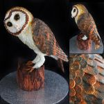 Tasmanian Masked Owl Cake by cakecrumbs