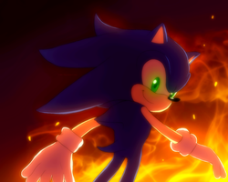 Sonic the hedgehog by AR-I