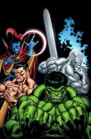 Incredible Hulk n Friends by GURU-eFX