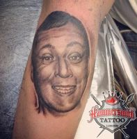 Janis Black And Grey Portrait by HammersmithTattoo