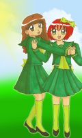 School Girls: Aurelie and Gina by Magical-Mama