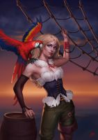 PiratePinUp by JuneJenssen