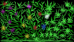Little Garden at Nite by Tigles1Artistry