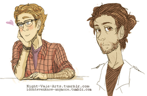 Cecil and Carlos - Sketches by dontevenknow-anymore