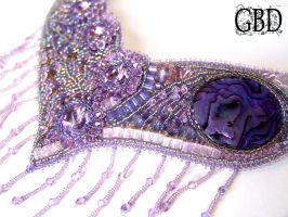 Lilac peacock detail by gbdreams