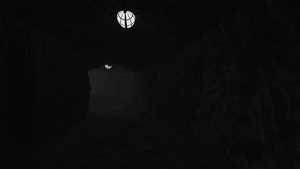 3d cave with mist by dani8190
