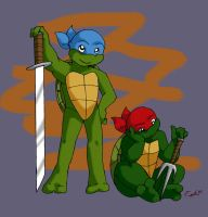 Young Leo and Raph by Ty-Chou