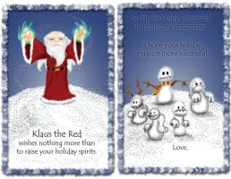 Klaus the Red Holiday Card by pyromancy