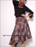 Wool Tartan Winter Warm Skirt by yystudio
