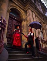 MadamRed+Grell - Off and about by ClamWings