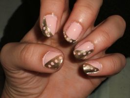 Peachy Pink With Gold by lettym