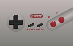 NES 2 Dog Bone Controller Wallpaper by Doctor-G