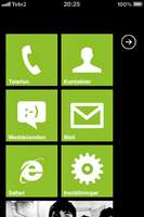 """OS7 on iPhone """"theme pic"""" Lime by ProjektGoteborg"""