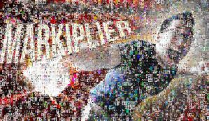 Markiplier mosaic out of fan art by SteffieNeko