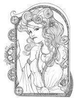 Moonblossom Mucha by MagnoliaX