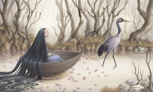 The Crane's Captive by Red-Clover