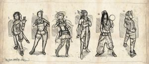 Character design sketches by Ranoartwork