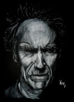 Clint Eastwood by whoisangie