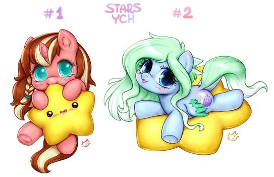 CUTE STARS PONY YCH | CLOSED by CatMag