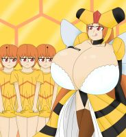 Male Combee and Vespiquen by NecroBern