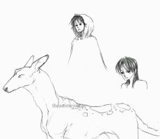 Creature and Cloak by theanimejump