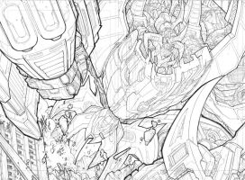 Dread Force double spread by Sandoval-Art