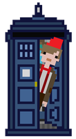 (Pixel) Doctor Who and TARDIS by E4xiS