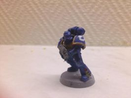 Ultramarine trooper by Nethernar