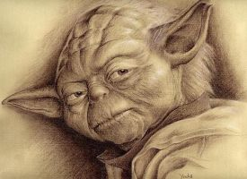 starwars yoda by charcoalking77