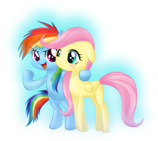 Filly Rainbowdash and Fluttershy by Jurisalis