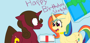 Happy Birthday Sketch! by nyan-cat-luver2000