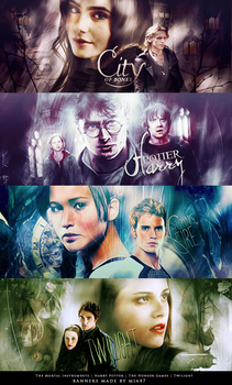 4 banners - Movies Based on Books by mia47