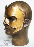 Old Gold Handmade Leather Mask by nondecaf