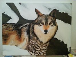 Wolf painting by RennyPen
