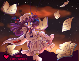 Patchouli Knowledge Skydiving Commission by ladypixelheart
