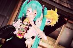 Taste A Good Drink the picture for LenMiku day by Guilmaster12