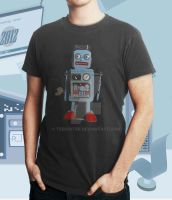 Love A Robot - Shirt - male by teebuster